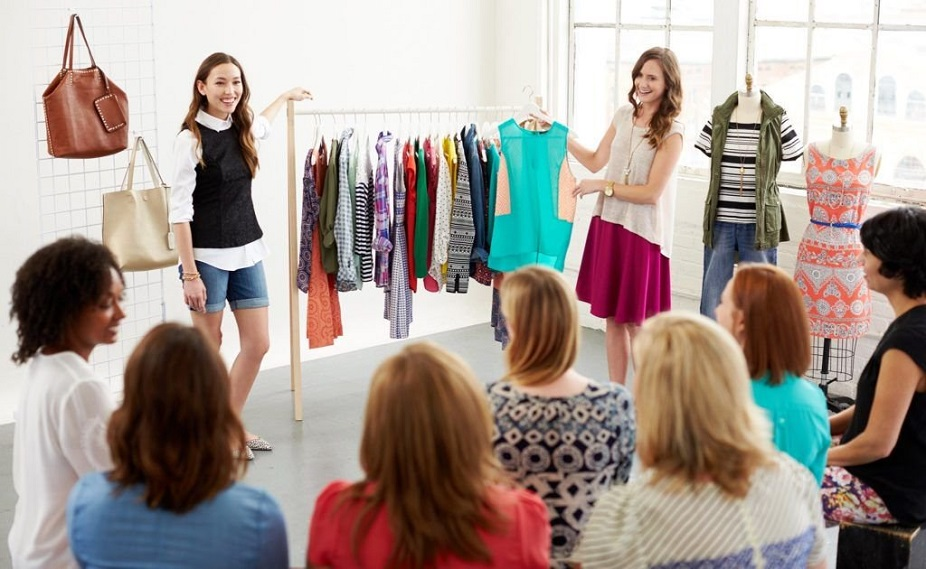 choosing clothes by women